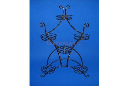 Подставка для цветов металлическая на подоконник «Стрекоза» на 6 горшков