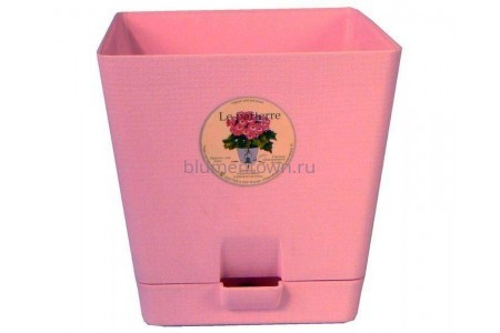 Горшок для цветов пластиковый с поддоном «Le parterre» 3,0л (розовый)