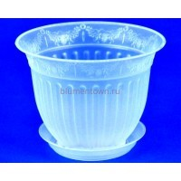 Горшок для цветов пластиковый Виноград с под.22 (прозр) 22-П