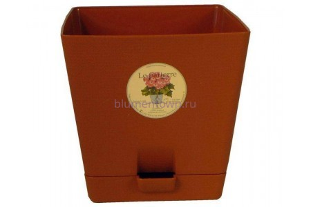 Горшок для цветов пластиковый с поддоном «Le parterre» 3,0л (терракотовый)