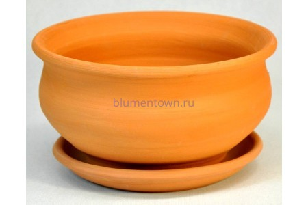 Горшок для цветов керамический с поддоном «Фиалочница №1 терракотовый» 3-00 32-100
