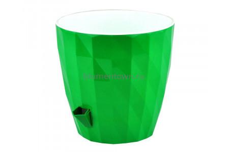 Кашпо пластиковое двойное без поддона и дренажного отверстия Соло Ruby 3л (зел) КШ6453
