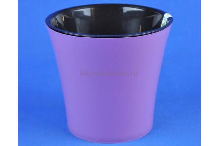 Кашпо двойное пластиковое без поддона АРТЕ  3,5л (аметист-черный)