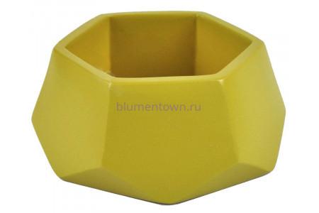 Кашпо керамическое без поддона и дренажного отверстия Техно 0,22л (оливка)