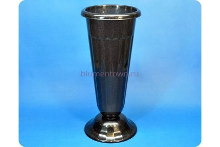Ваза пластиковая для срезанных цветов «м5142 черная» h-44см