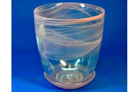 Горшок из стекла  «№3 алебастр розовый»