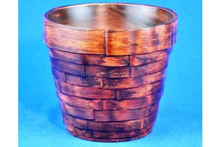 Кашпо керамическое без поддона и дренажного отверстия Гренада 1 (красн.дерево)