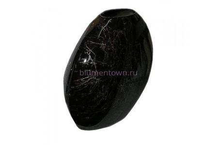 Ваза керамическая для сухоцветов  ЛУНА черная