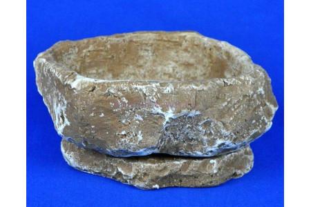 Горшок для цветов керамический с поддоном Камень Гранит тем/песч км11-2