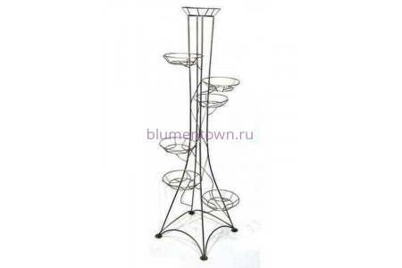 Подставка для цветов напольная металлическая «Березка на 7 горшков»