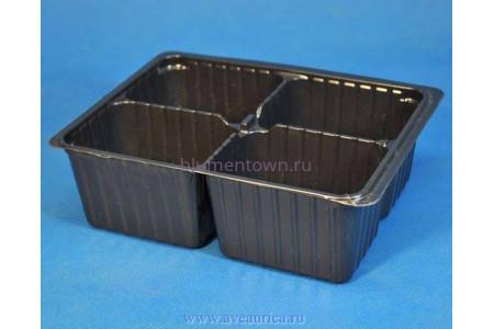 Мини-кассета для рассады на 4 ячейки пластиковая