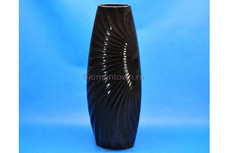 Ваза керамическая для сухоцветов «№160 УТРО h48см черная (средняя)»
