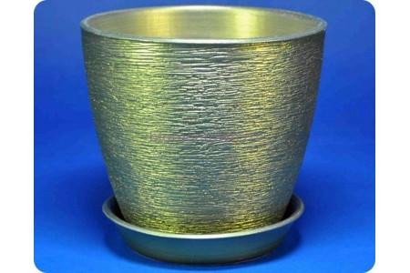 Горшок для цветов керамический с поддоном «Виктория (13см) оливка»