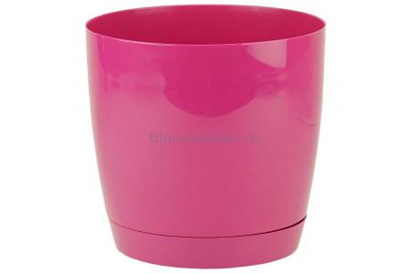 Горшок для цветов пластиковый с поддоном Toscana круг. 3л с под.(ягодное) (0743-043)