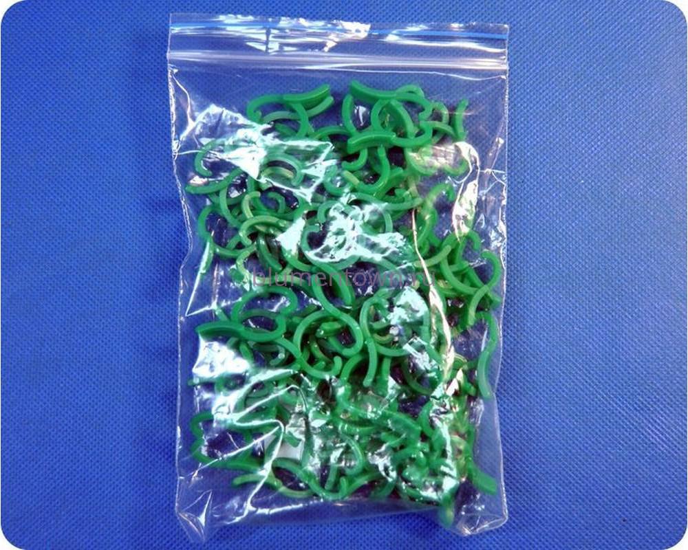 Зажим для растений 2см (зел) 50шт