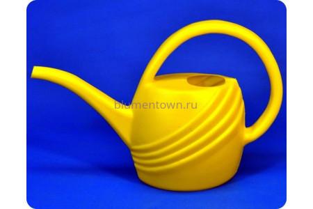 Лейка пластиковая 1,4л (желтая) м140