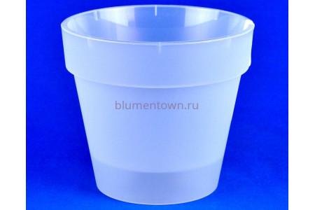 Кашпо пластиковое без поддона и дренажного отверстия Протея 3,7л (прозр-прозрачный) 6030