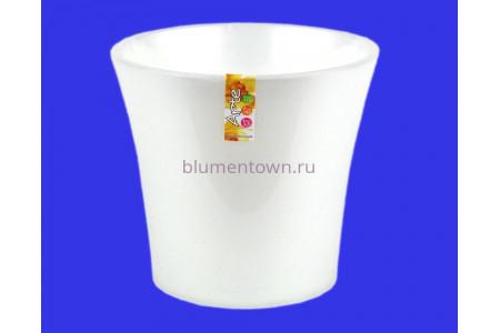 Кашпо пластиковое двойное без поддона и дренажного отверстия АРТЕ  3,5л (жемчуг-прозр.) э 423