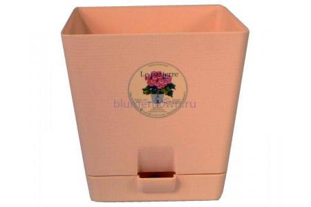 Горшок для цветов пластиковый с поддоном «Le parterre» 3,0л (бежевый)
