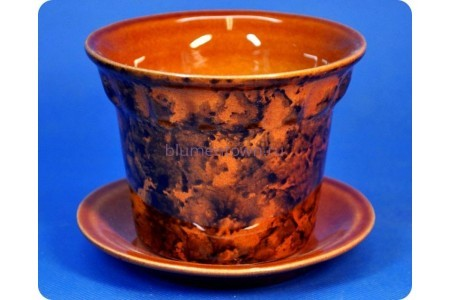 Кашпо керамическое «Кактус большой коричневый 0,3л»