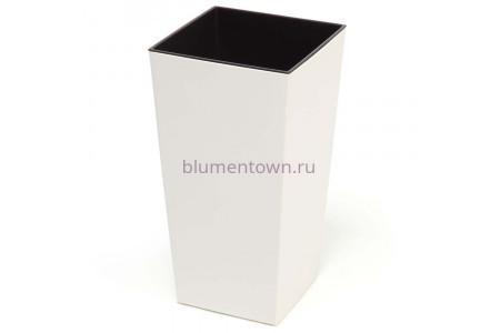Кашпо пластиковое со вставкой Finezja 31*31*60см (крем) (547-74)