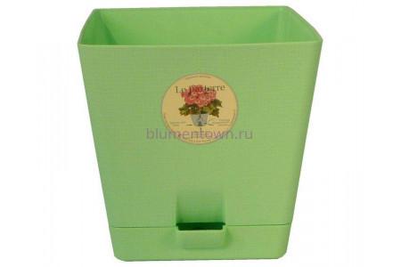 Горшок для цветов пластиковый с поддоном «Le parterre» 3,0л (зеленый)