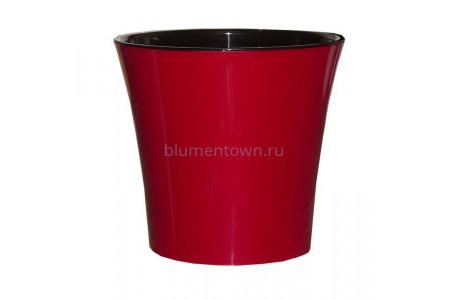 Кашпо пластмассовое для орхидеи  АРТЕ  2л (красный-черный)