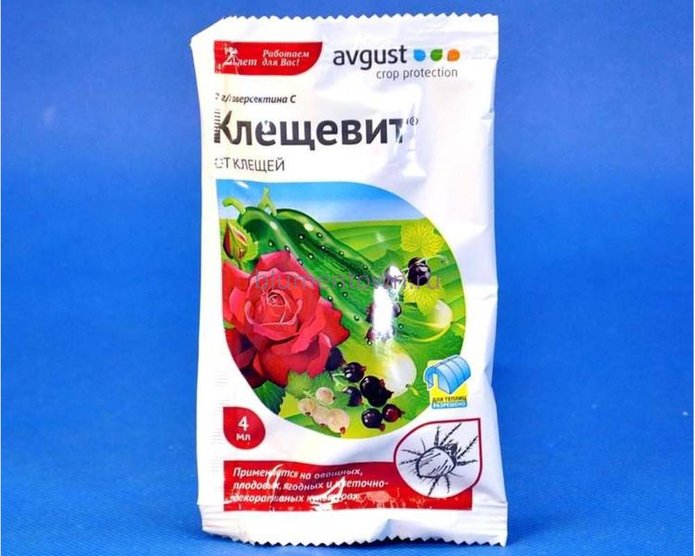 """Средство защиты растений """"Клещевит"""" 4 мл от клещей"""
