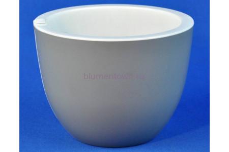Кашпо пластиковое без поддона Орион 2,3л (серый муссон)