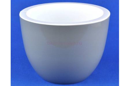 Кашпо пластиковое без поддона Орион 3,5л (серый муссон)
