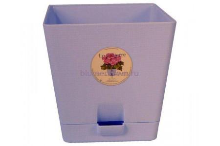 Горшок для цветов пластиковый с поддоном «Le parterre» 3,0л (светло-синий)