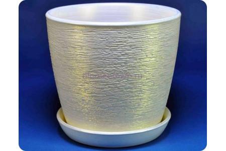 """Цветочный горшок из керамики """"Виктория"""" (13см) белый"""