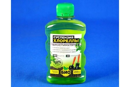 Удобрение жидкое Био:суспензия хлореллы (биостимулятор) 250мл