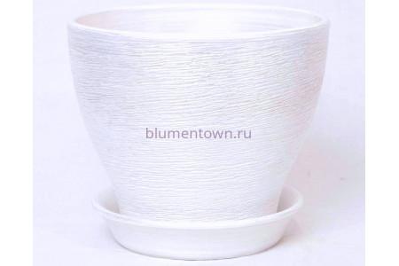 Горшок керамический  «Ксения №7 белый»