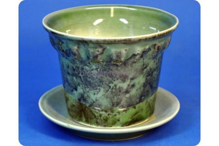 Кашпо керамическое «Кактус большой зеленый 0,3л»