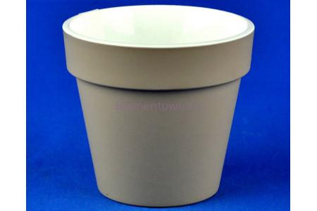 Кашпо пластиковое без поддона и дренажного отверстия Протея 3,7л (фраппе-бел) 2314