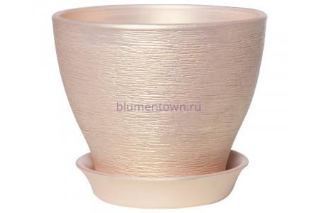 Горшок керамический  «Ксения №8  персик»