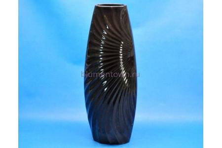 Ваза для сухоцветов «Утро» h56см черная (большая)