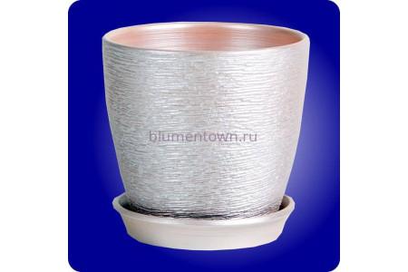 Горшок для цветов «Виктория (10см) серебро»
