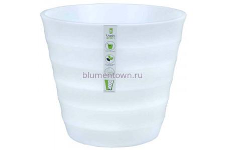 Горшок для цветов пластиковый Лаура с под. 6л (бел) ЛР2510