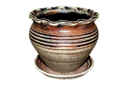 Горшок для цветов керамический  «Чугунок №0»