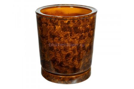 Горшок для цветов керамический с поддоном «Вазон №7» коричневый 35л
