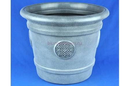 Кашпо напольное пластиковое без поддона и отверстия  Medallion 40л (графит)