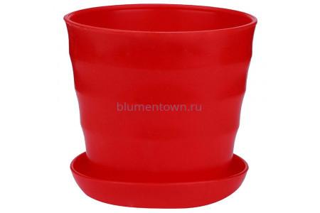 Горшок для цветов пластиковый Лаура с под. 6л (красн) ЛР2516