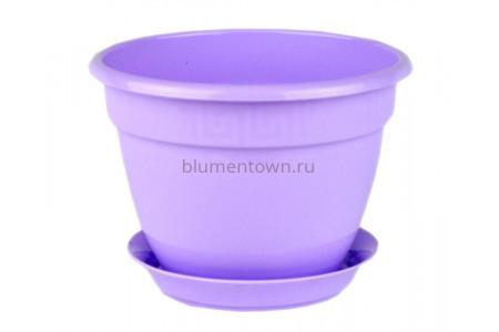 Горшок для цветов пластиковый с поддоном Антик с под.13 (лаванда) 0652