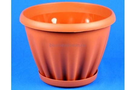 Горшок для цветов пластиковый Знатный с под.11л (тер) 605