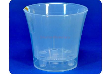 Кашпо пластиковое двойное без поддона «Арте прозрачный-прозрачный» 0,6л э 249